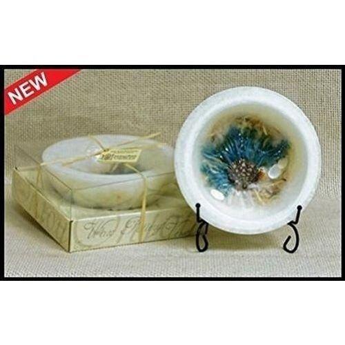 Habersham Wax Pottery Vessel- White Sand and Sea Salt (Vessels Sea Salt)