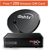 Dish TV HD+ Set Top Box with Annual Max HD Club Pack with 200 Amazon Voucher