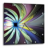 3dRose dpp_201011_1 a Wonderful Modern Abstract Colorful Fractal Flower Star Wall Clock, 10 by 10″