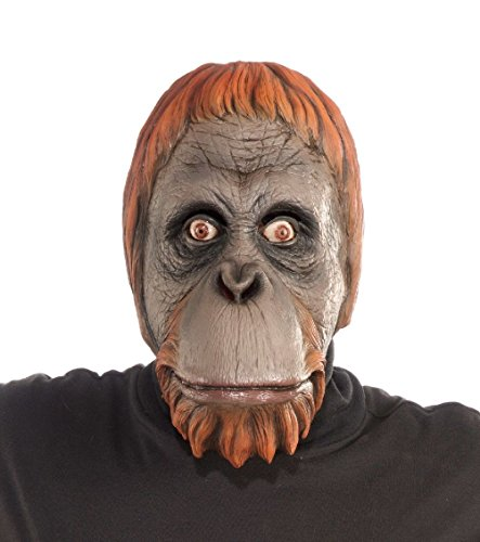 Monkey Sock Costume Halloween Pirate (Orangutan Adult Latex Mask Monkey Ape Halloween Costume Accessory Jungle)