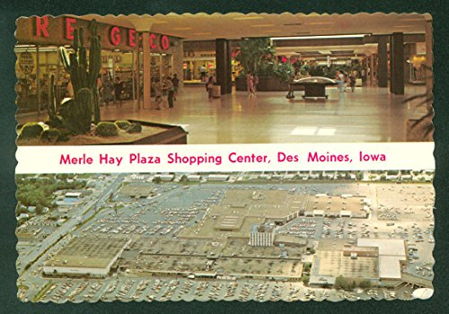 Merle Hay Plaza Shopping Center DES MOINES IOWA c1970 Continental - Moines In Shopping Des