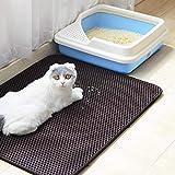 Authda Cat Litter Mat Double Layer Honeycomb Washable Non Toxic Durable Foam Rubber