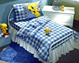 LOONEY TUNES - Tweety Bird Blues - SHEET SET - Toddler Size - Girls Bedding