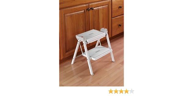 Outstanding Hafele Stepfix Step Stool White Gray Evergreenethics Interior Chair Design Evergreenethicsorg