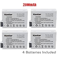 Kastar Battery (4-Pack) for Canon LP-E8, LPE8, LC-E8E work with Canon EOS 550D, EOS 600D, EOS 700D, EOS Rebel T2i, EOS Rebel T3i, EOS Rebel T4i, EOS Rebel T5i Cameras and BG-E8 Grip