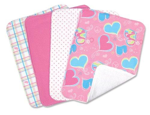 Trend Lab Set of 4 Burp Cloths, Groovy Love