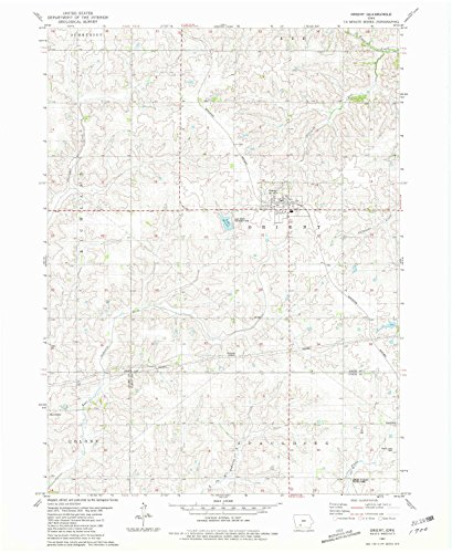 (YellowMaps Orient IA topo map, 1:24000 Scale, 7.5 X 7.5 Minute, Historical, 1981, Updated 1981, 26.9 x 21.9 in - Paper)