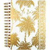 lilly pulitzer to do planner, metallic palms