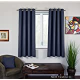 """NIM Textile Grommet Curtains, Thermal Insulated Blackout Drapes, 110""""W x 63""""L, 2-Panels Pack, Sofiter Collection (Blue)"""