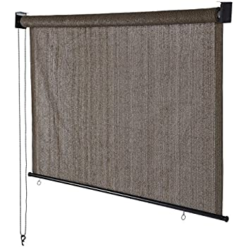 Coolaroo outdoor cordless roller shade 8ft by for Exterior no chain window shade