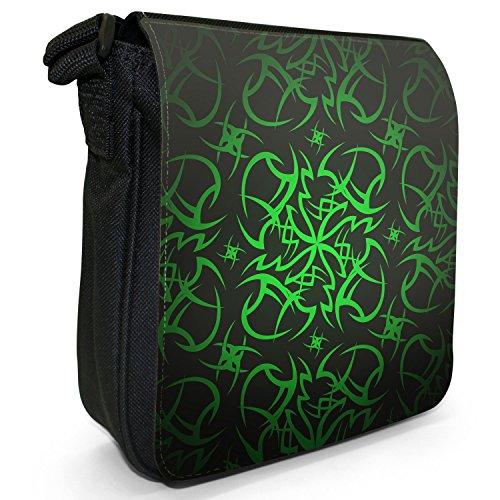 Green Tribal Size Black Small Canvas Tattoo Bag Cult Shoulder xwxqOPSa