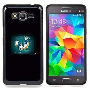 - Dolphin Grunge - - Cubierta del caso de impacto con el patr??n Art Designs FOR Samsung Galaxy Grand Prime G530H G5308 Queen Pattern