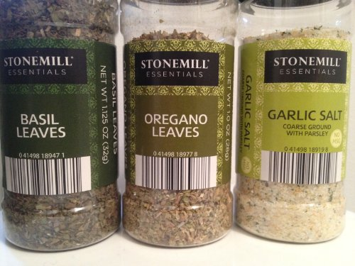 Three Pack - Basil, Oregano, & Garlic Salt by Stonemill Essentials