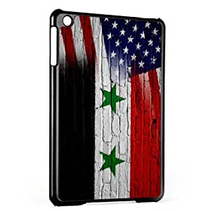 Case for Apple iPad Mini - Gen 1 & 2 - Flag of Syria & USA - Syrian - Bricks