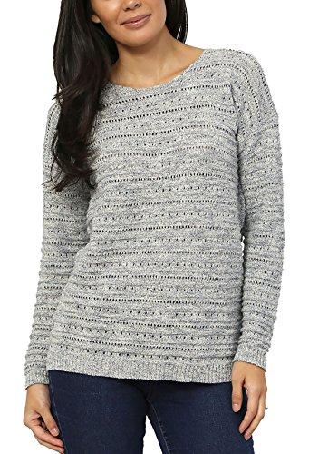 Leo & Nicole Ladies Pointelle Crew-Neck Sweater. Size: XXLarge. Color Stratus Blue.