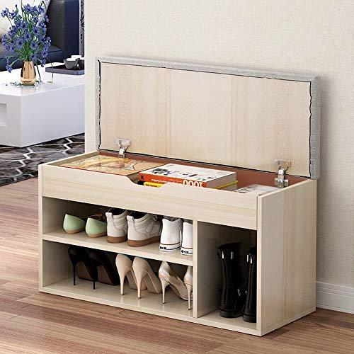 (Simple Modern Shoe Storage Shelf Stool Fashion Sofa Bench Change Shoe Bench Shoe Rack - Shipped from US (Yellow) )