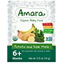 Organic Baby Food - NON GMO & GLUTEN FREE - Kale Mashed Potatoes Flavor (7 Pouches) for 6 Month Happy Healthy Toddlers - Natural Fruit & Vegetable Stage 2