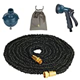 (Yoofor) Youfo extend hose 5m ¨ 15m 3 times 8 pattern watering nozzle housed 2016 enhanced version of black with a porch extending
