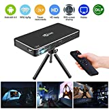 Super PDR Smart Projector WiFi DLP projector Pico hdmi 1080p mobile video projector hd wifi bluetooth home theater projector Portable Mini Pocket Size for iphone Andriod phone TOUMEI C800S