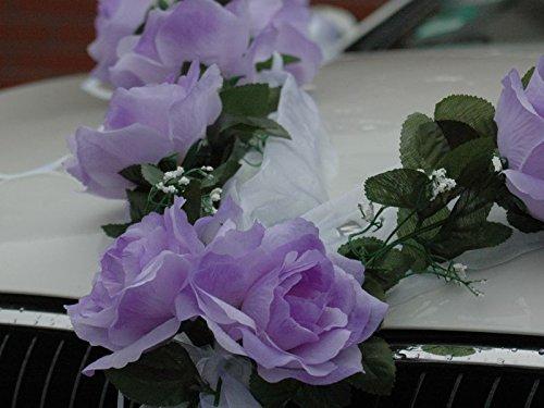 Autoschmuck Rose Garland Wedding Car Decoration Red//White Bridal Car Accessory