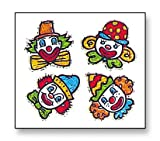 Bulk Roll Prismatic Stickers, Clown Faces (100 Repeats)