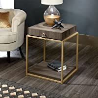 Sauder 417841 End Table, Furniture International Lux Diamond Ash Side