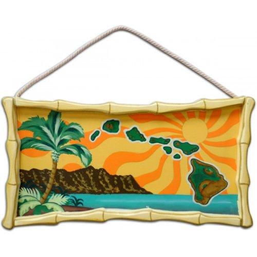 (Hawaiian Wood Decorative Wall Hanging Sign)