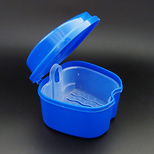 KaLaiXing Denture Bath - Storage Container for Soaking Dentures, Retainers & other Dental Appliances--blue by KaLaiXing