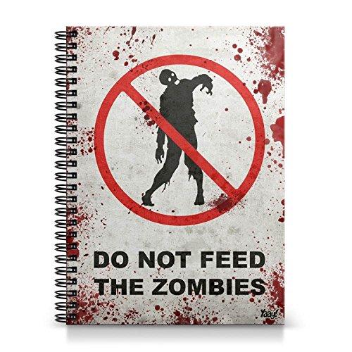 Caderno Universitário Capa Dura Do Not Feed the Zombie