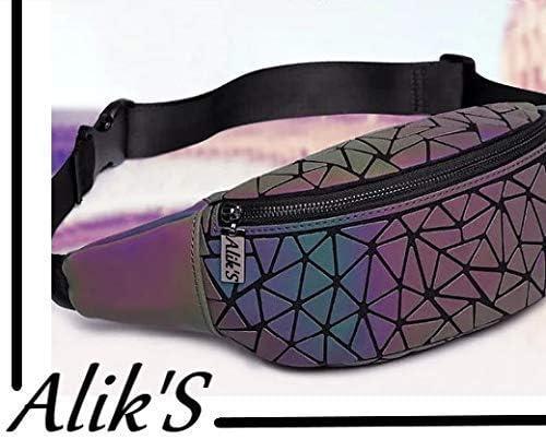 Sac /à dos design g/éom/étrique lumineux AlikS /à facettes r/éfl/échissantes S1 portemonnaie assorti offert