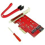 M.2 NGFF Both B & M Key SSD to PCI-E PCIE SATA III 3 Adapter Converter All OS Accessries
