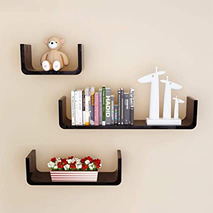 LTJTVFXQ-shelf Conjunto de 3 estantes de Pared Estantes ...