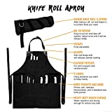 Under NY Sky Knife-Roll Ebony Black Apron