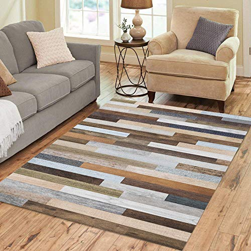 (Semtomn Area Rug 2' X 3' Pallet Wood Colorful Planks Rustic Abstract Aged Beautiful Beech Home Decor Collection Floor Rugs Carpet for Living Room Bedroom Dining Room)