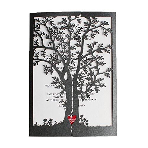 red and black wedding invitations amazon com