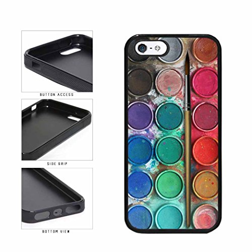 BleuReign(TM) Messy Watercolor Paint Palette TPU RUBBER SILICONE Phone Case Back Cover Apple iPhone 5 5s and iPhone SE