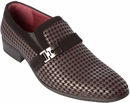 Rogan Mens Slip-On Loafer Brown-Black Dress-Shoes Size 11 ()