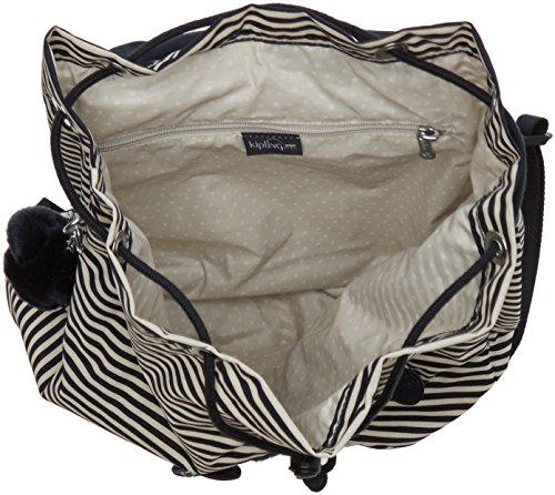 Women's Stripy B Fundamental Kipling Kipling Marine Women's Backpack Multicolour xn8w0WWE7a