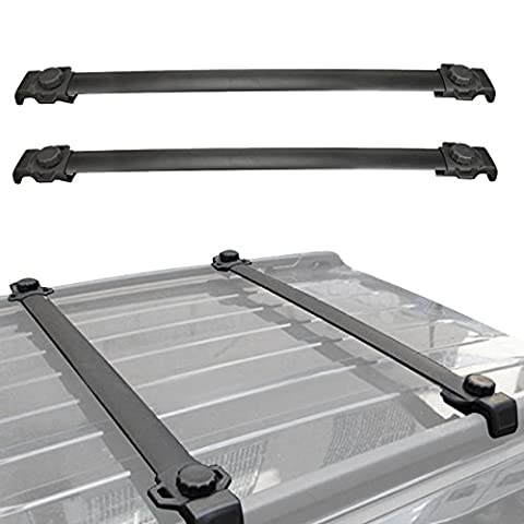 ALAVENTE Roof Rack Cross Bar For 2007-2016 Jeep Patriot (Pack of 2, Black) (2013 Jeep Parts)