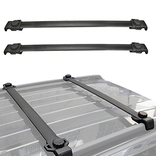 ALAVENTE Roof Rack Cross Bar Crossbars System For Jeep Patriot 2016 2015 2014 2013 2012 2011 2010 2009 2008 2007 (Pair, Black)