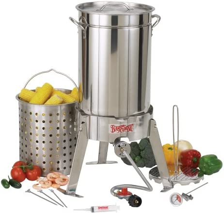 Bayou Classic 1175 30-Quart Stainless Steel Turkey Fryer Kit with Perforated Basket