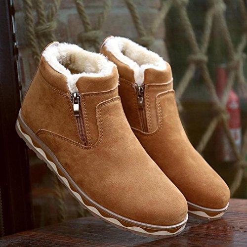 Sneaker Rutschfeste Winter Herren LHWY Männer Beiläufige Plüsch Schuhe Warme Schneeschuhe Gelb Stiefel Wasserdichte qwA5R5xO