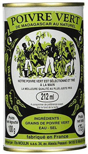 Madagascar Green Peppercorns in brine (5 PACK) by Moulin