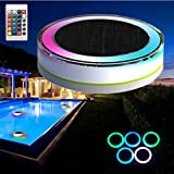 Svitlife Remote Control Solar Power LED Colorful Swimming Pool Light Garden Waterproof Floating Lamp