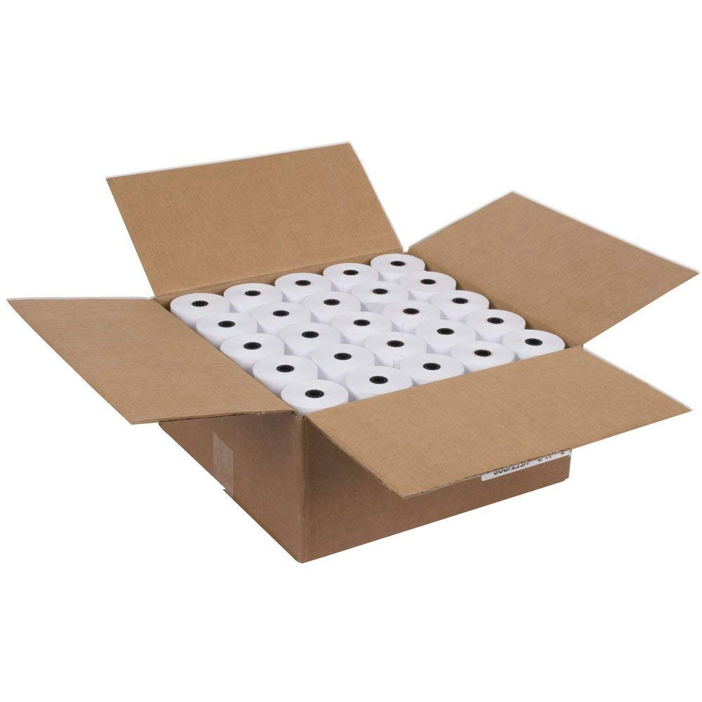 2 1/4 Thermal Paper 50 Rolls for Credit Card Machine POS Register Receipt Paper Roll (2 1/4'' x 85')