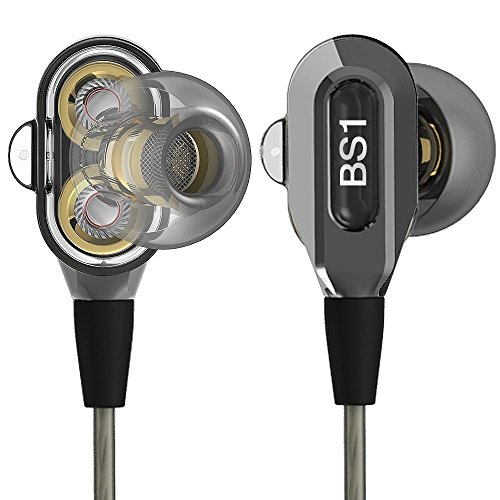 Actionpie in-Ear Headphones Earbuds High Resolution Heavy Bass with Mic for Smart Phone Cell Phones Mp3 Mp4 Earphones