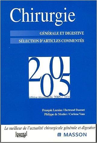 Chirurgie 2005 - générale et digestive pdf, epub