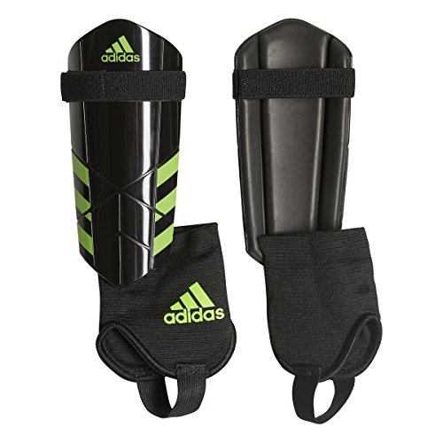 d2f7fea25 adidas Ghost Youth Soccer Shin Guards (Black/Solar Green, M)