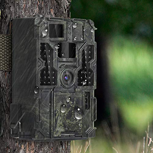 Kuool T3 Trail Camera with Night Vision Motion Activated 48pcs 850NM IR LEDs,1080P 16MP Wildlife Hunting Game Cam,3 Trigger Sensors 0.2s IP65