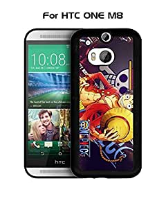 Movie Series - HTC One M8 Funda Case ONE PIECE Anime Hot Design Best Protection Cover For HTC One M8 Funda Case Slim Stylish With Durable Scratch Resistant Protection Designer Style, HTC One M8